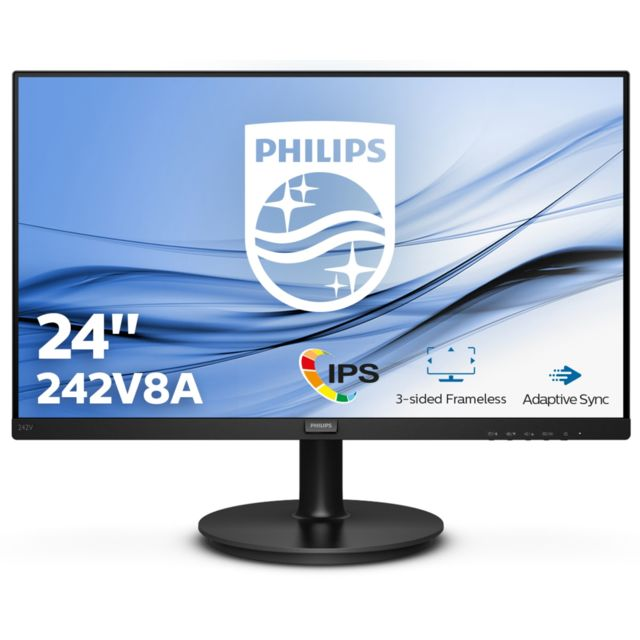 "Philips - 23.8"" LED 242V8A Philips   - Moniteur PC"