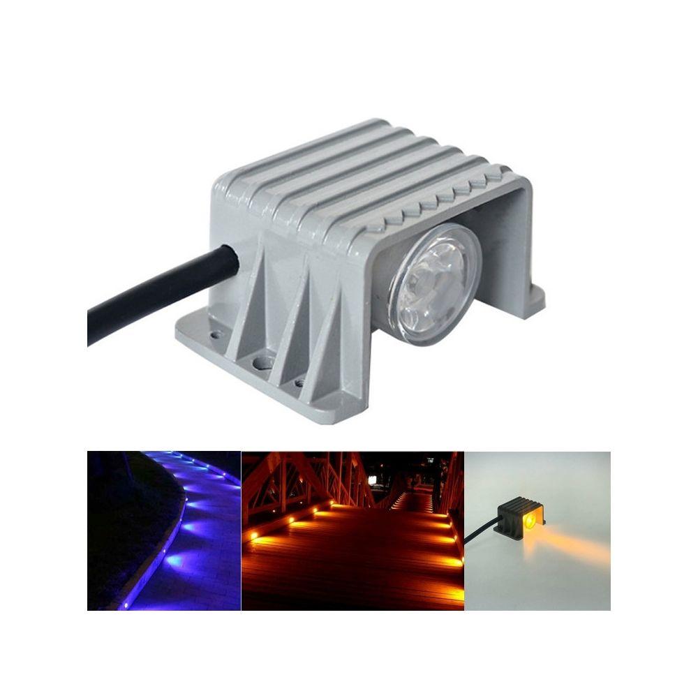 Wewoo Projecteur LED extérieur 1W couloir étanche escalier d'angle lumière Trail Light rouge