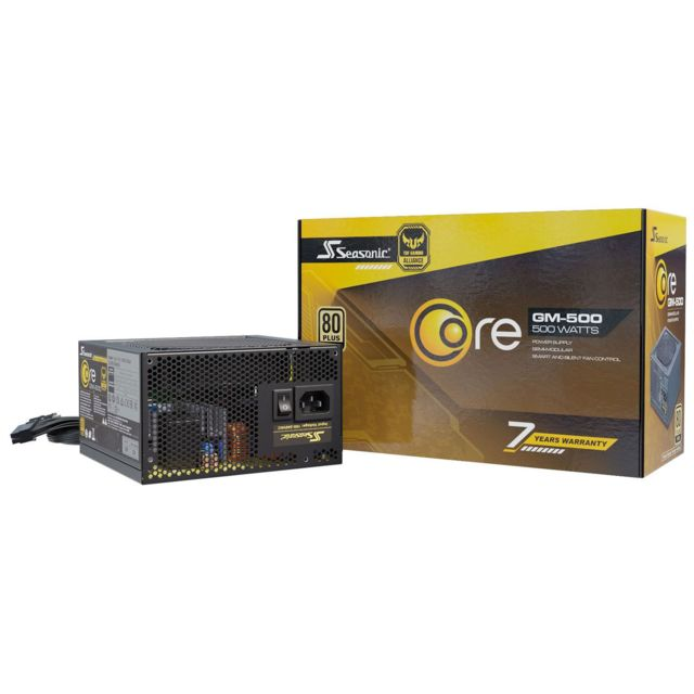 Seasonic - Core GM 500 500W - 80 Plus Gold - Alimentation modulaire