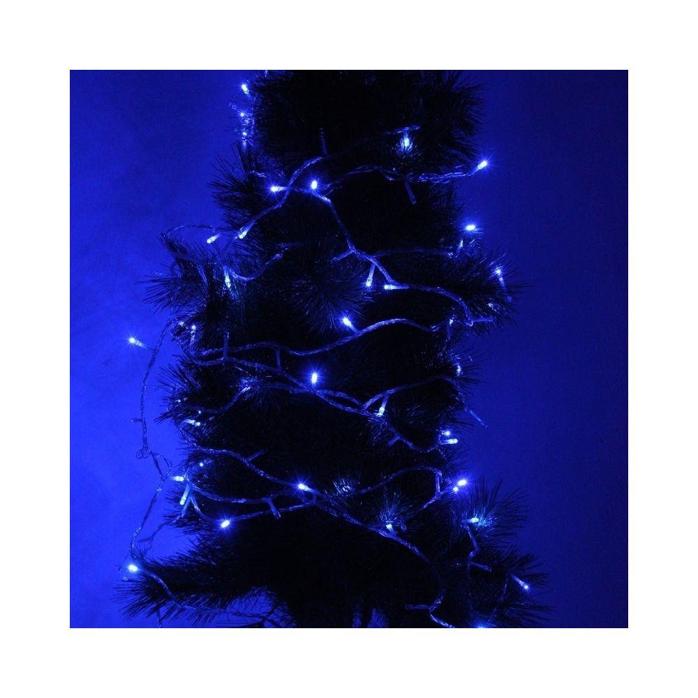 Wewoo Guirlande pour la fête de noël, 220-240 V, UE Plug 30m 300 LED lumière bleue étanche IP44 chaîne décoration avec 8 fonct
