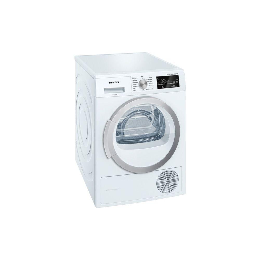 Siemens siemens - sèche linge à pompe à chaleur avec condenseur 60cm 8kg a++ blanc - wt47w460ff