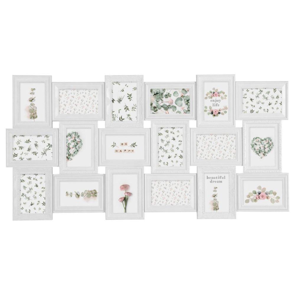 Atmosphera, Createur D'Interie Atmosphera - Pêle-mêle romance plastique blanc - 18 photos