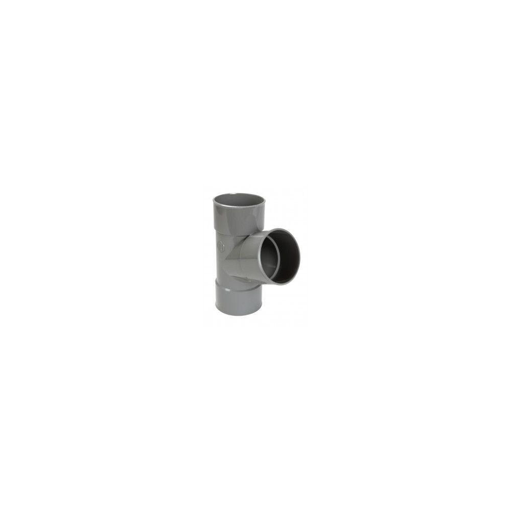 Nicoll Culotte FF simple 67°30 - BT166 - PVC gris - Ø 100 mm
