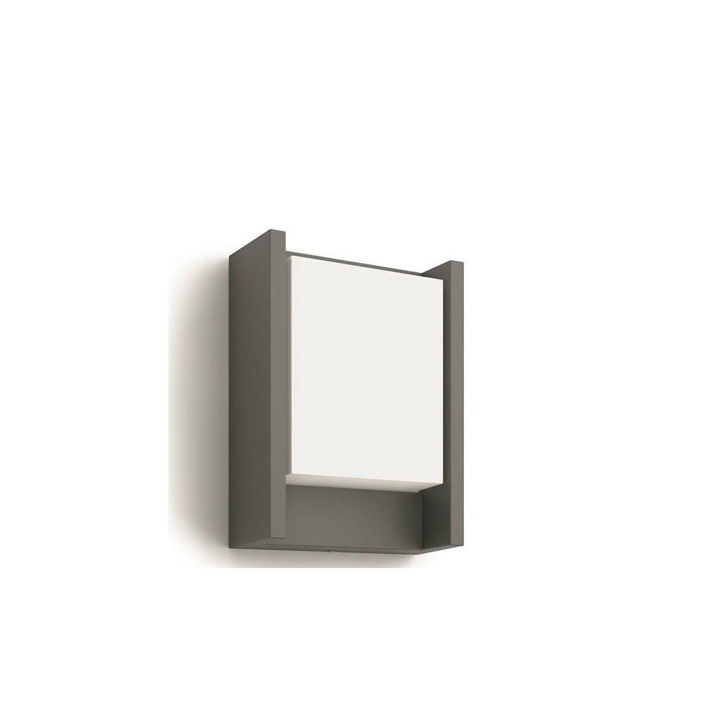 Philips ARBOUR-Applique d'extérieur LED Métal & Verre H22cm gris anthracite Philips