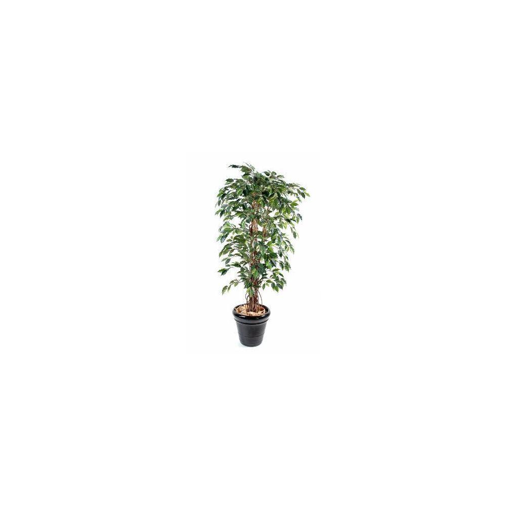 Artificielflower Arbre artificiel Ficus lianes grandes feuilles - plante d'intérieur - H.180 cm vert - taille : 180cm