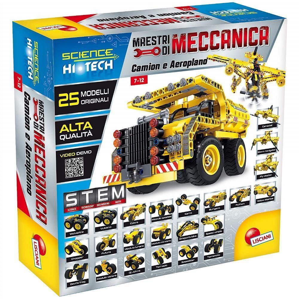 Lisciani Lisciani Giochi - Science Hi Tech Maestri de mécanique Camion et Avion, 25 en 1