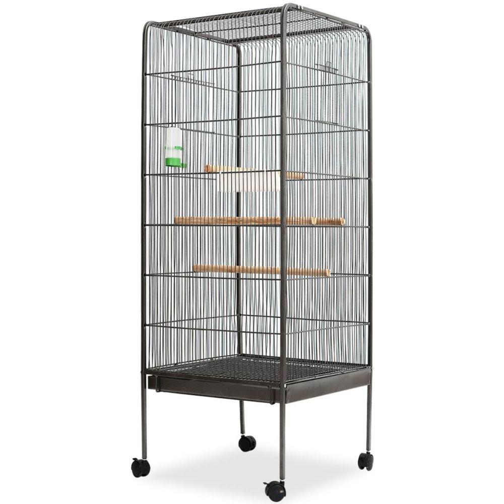 Vidaxl vidaXL Cage à oiseaux Noir 54 x 54 x 146 cm Acier