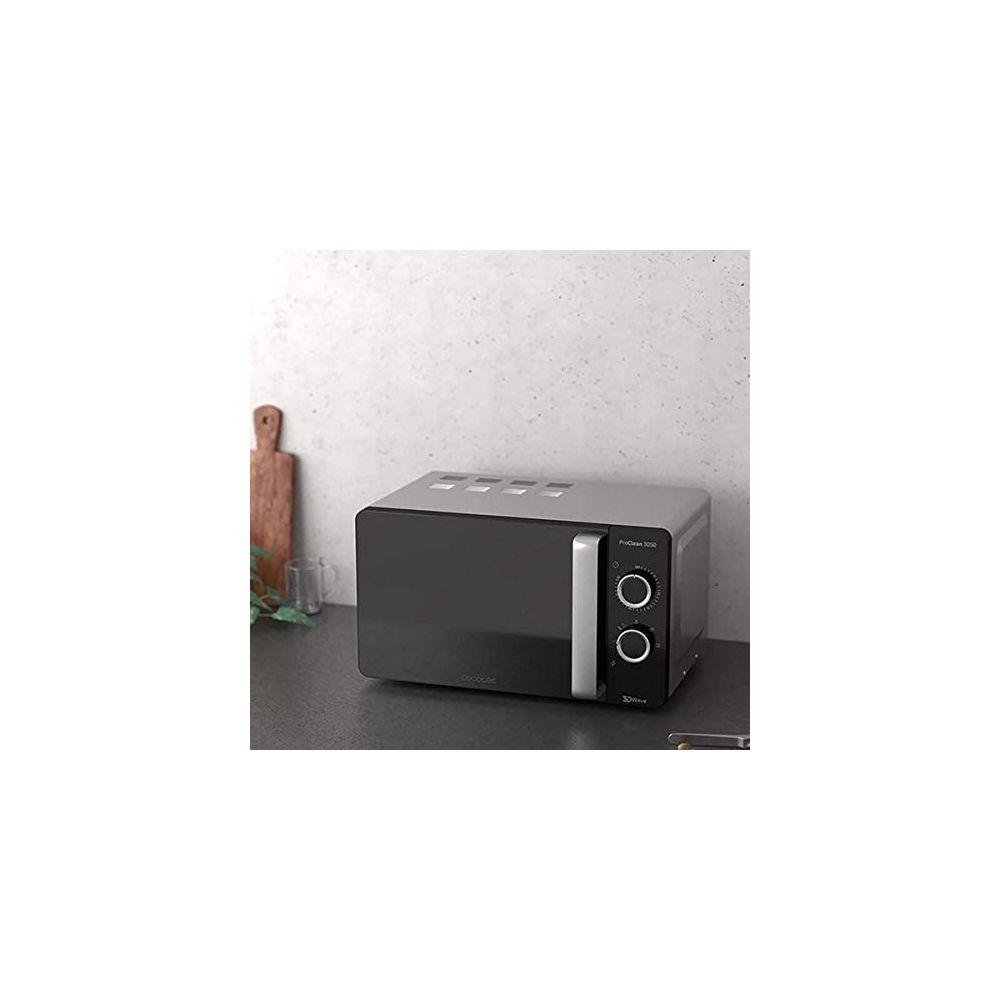 Cecotec Micro ondes de 20L avec minuterie 700W noir gris