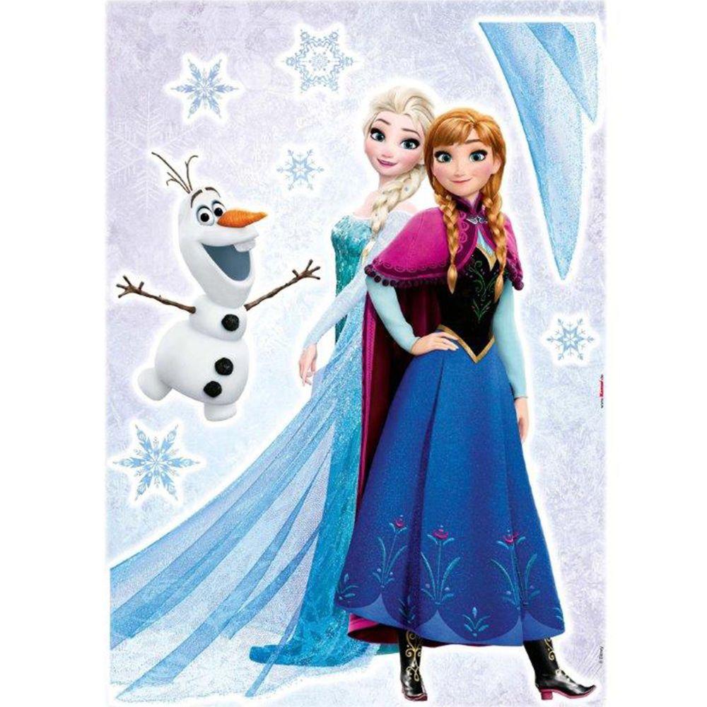 Komar Stickers géant Trio La Reine des Neiges Disney