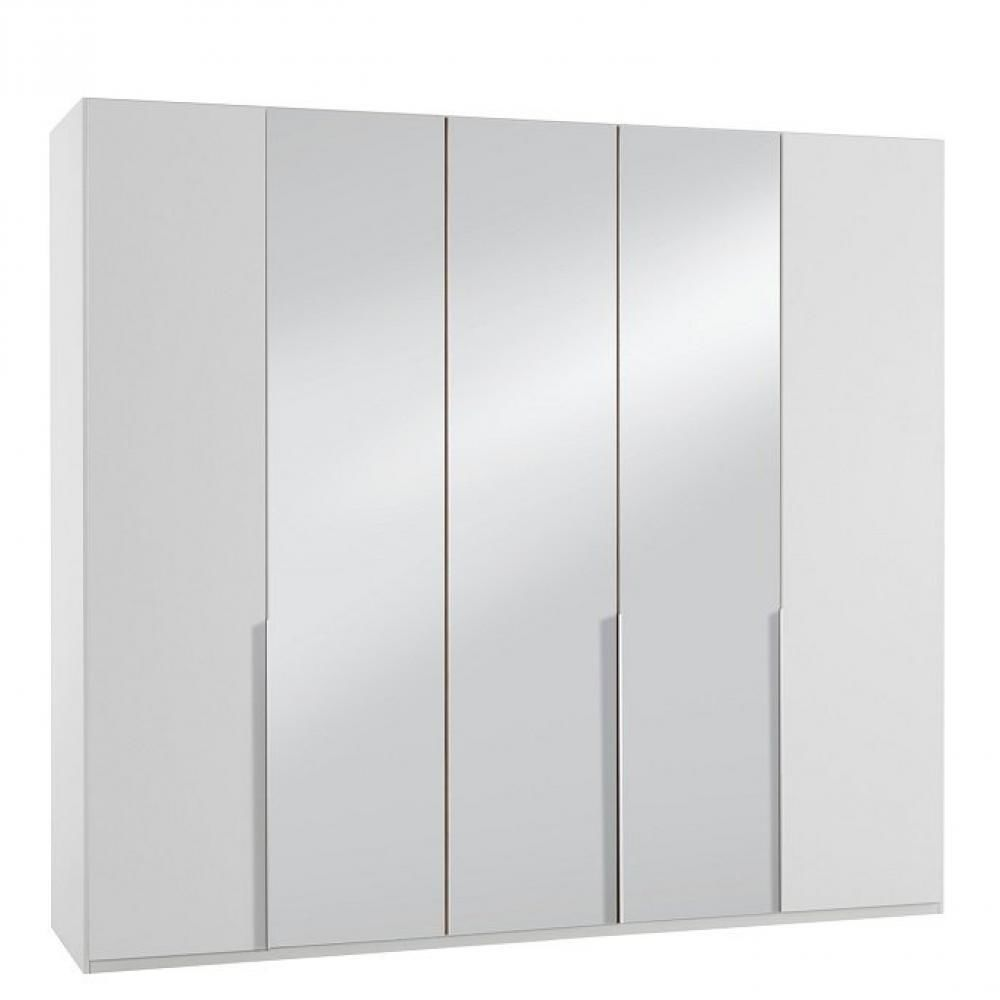 Inside 75 Armoire 5 portes 3 miroirs WILMA 225 cm blanche