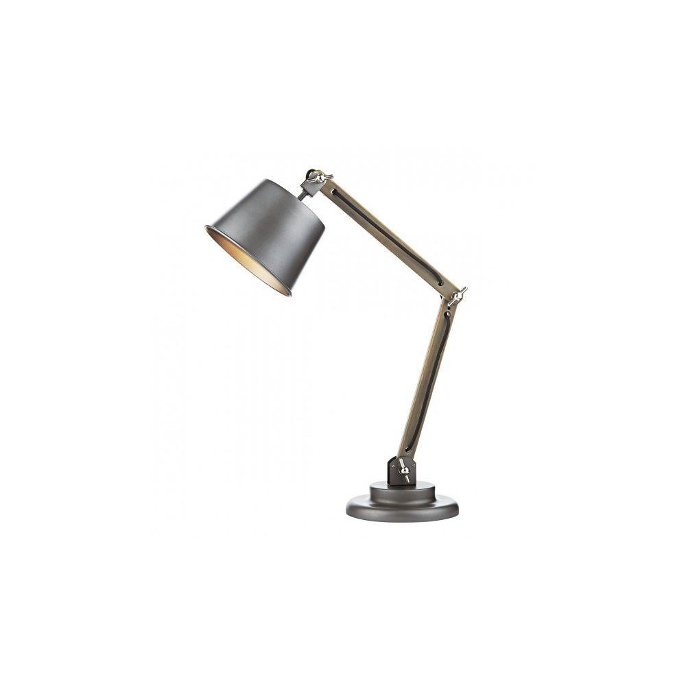Luminaire Center Lampe de table Arken gris satiné et bois 1 ampoule