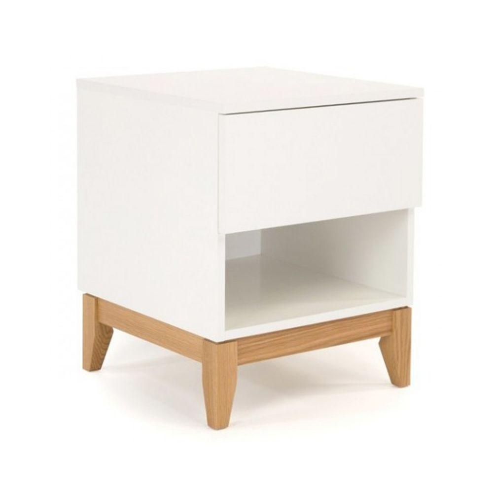 Paris Prix Table de Chevet Design Blanco 55cm Blanc