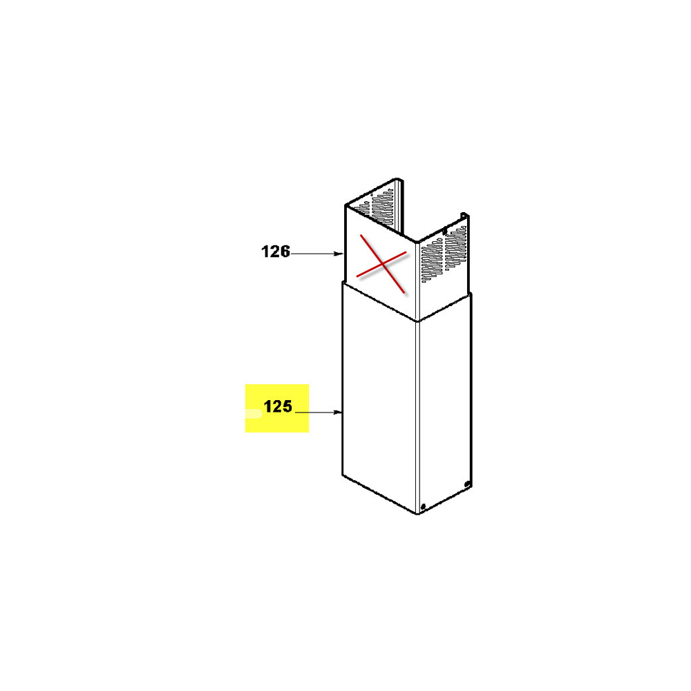 Sauter CHEMINEE INOX INFERIEURE POUR HOTTE SAUTER - 74X6926