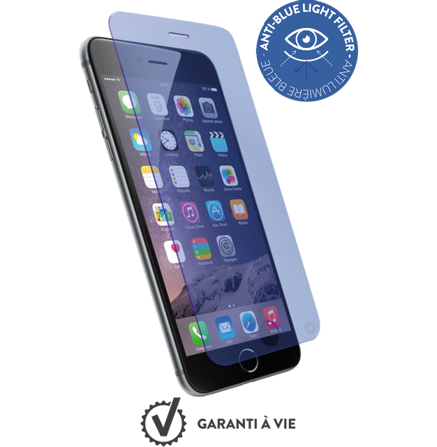 Force Glass - Verre trempe iPhone 7 / 8 - Anti-lumiere bleue Force Glass   - Protection écran smartphone