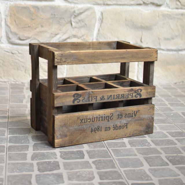 3 style ancien casier caisse cageot a bouteilles bois 36 50 x 23 x 29 cm
