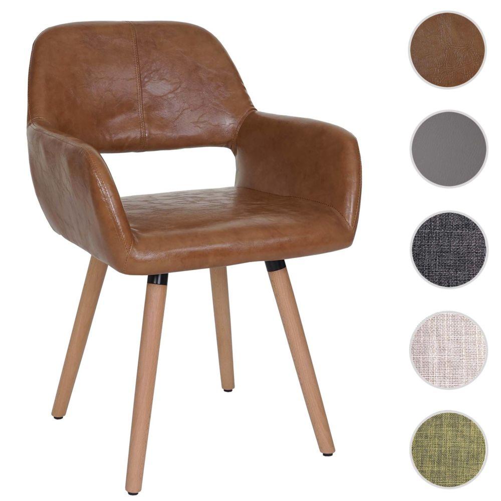 Mendler Chaise de salle à manger Altena II, fauteuil, design rétro des années 50 ~ similicuir, aspect daim
