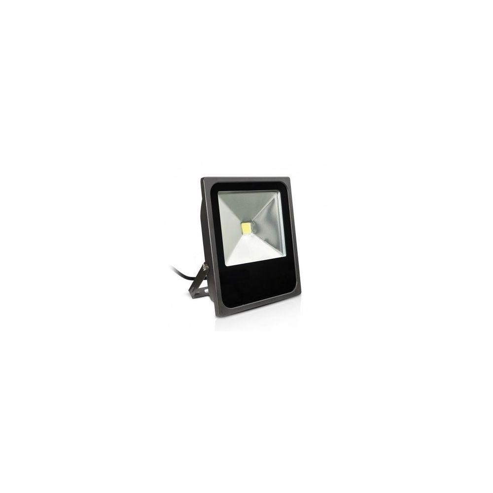 Vision-El Projecteur Exterieur LED Plat Gris 80W 6000 K