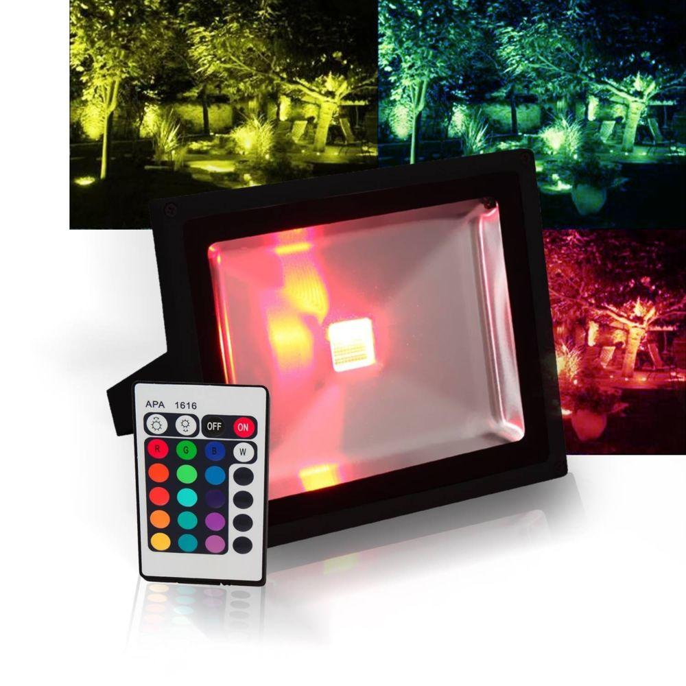 Ibiza Light Projecteur extérieur à LED 30W 16 couleurs RGB norme IP65 + Télécommande