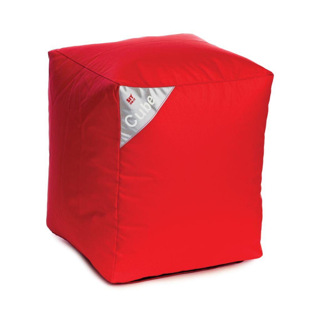 Rendez Vous Deco Pouf Cube rouge
