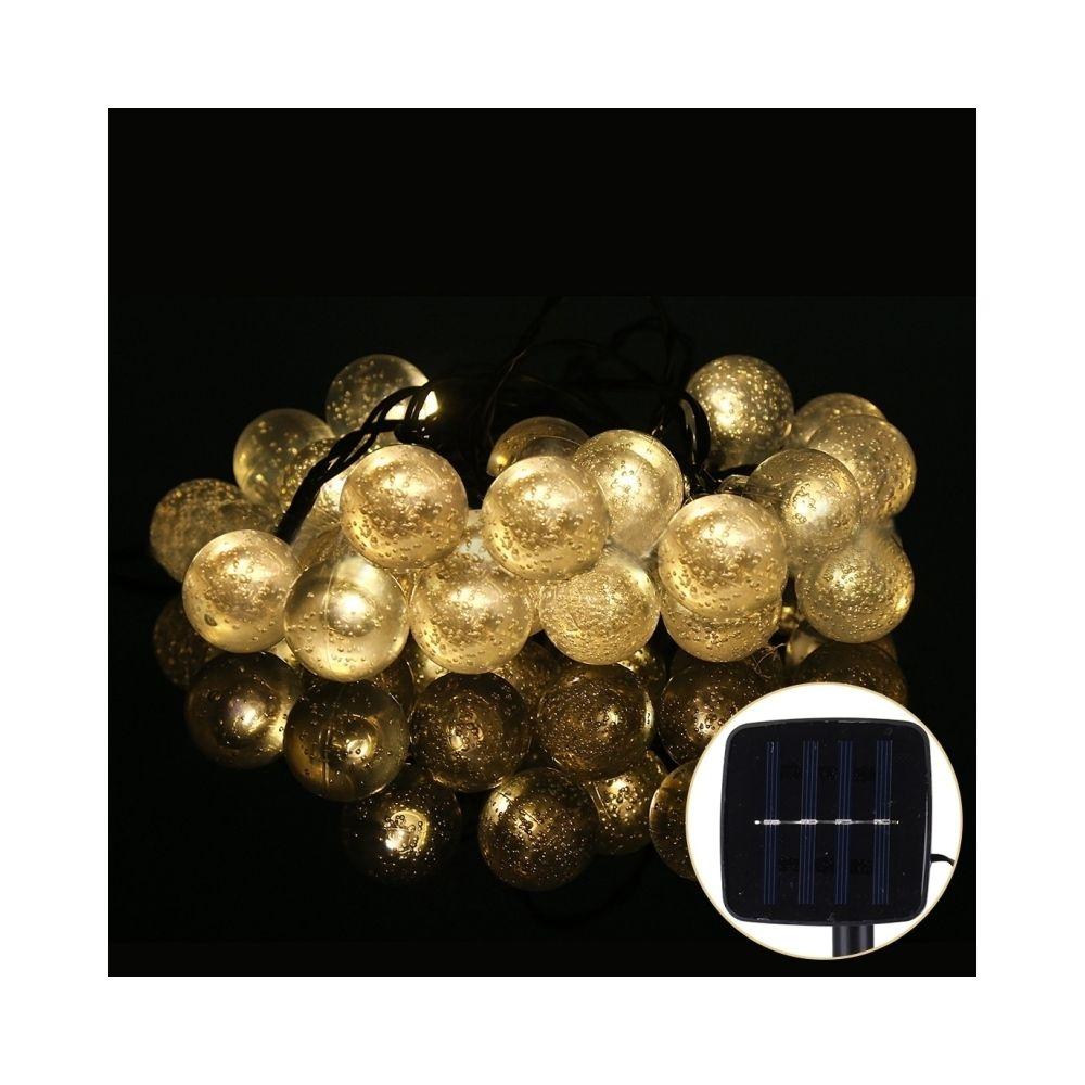 Wewoo Guirlande blanc Lumières de chaîne de boule de bulle du panneau solaire 30 LED de 5m 240-360LM 30 avec le câble prolongé
