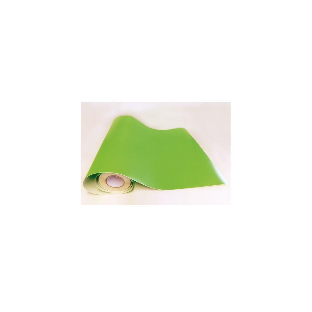 Adzif Biz Rouleau adhésif - Papier peint autocollant Vert tilleul mat (10 m x 123 cm)