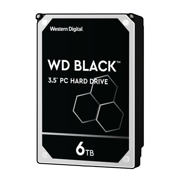 Western Digital - WD BLACK 6 To - 3.5'' SATA III 6 Go/s - Cache 256 Mo - Noir - Disque Dur interne