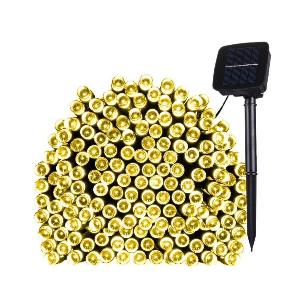 Wewoo Guirlande blanc 17m 100 LEDs IP44 Panneau solaire étanche Fée lampe vacances décorative lumière chaud