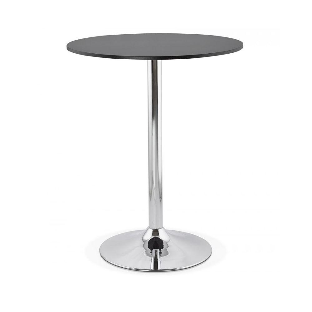Kokoon Design Table bar design LYNN BLACK 90x90x110 cm