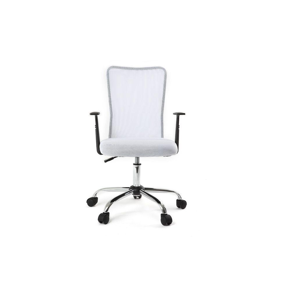 Miliboo Fauteuil de bureau design en mesh blanc PLUZ