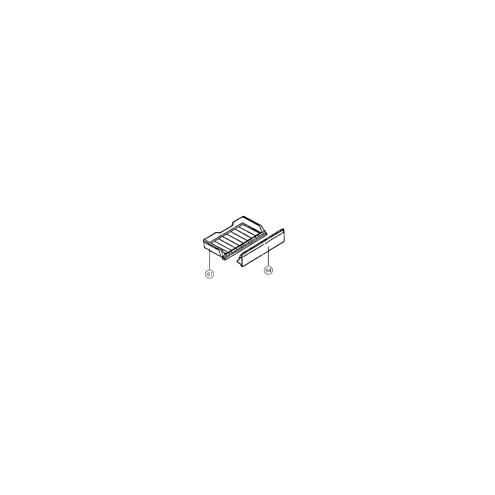 Daewoo CLAYETTE SUPERIEURE (REP 61) POUR REFRIGERATEUR DAEWOO - 3011102300