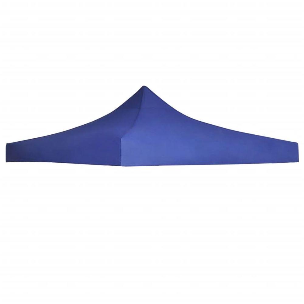 Vidaxl vidaXL Toit de Tente de Réception 3x3 m Bleu Jardin Terrasse Pavillon Tonelle