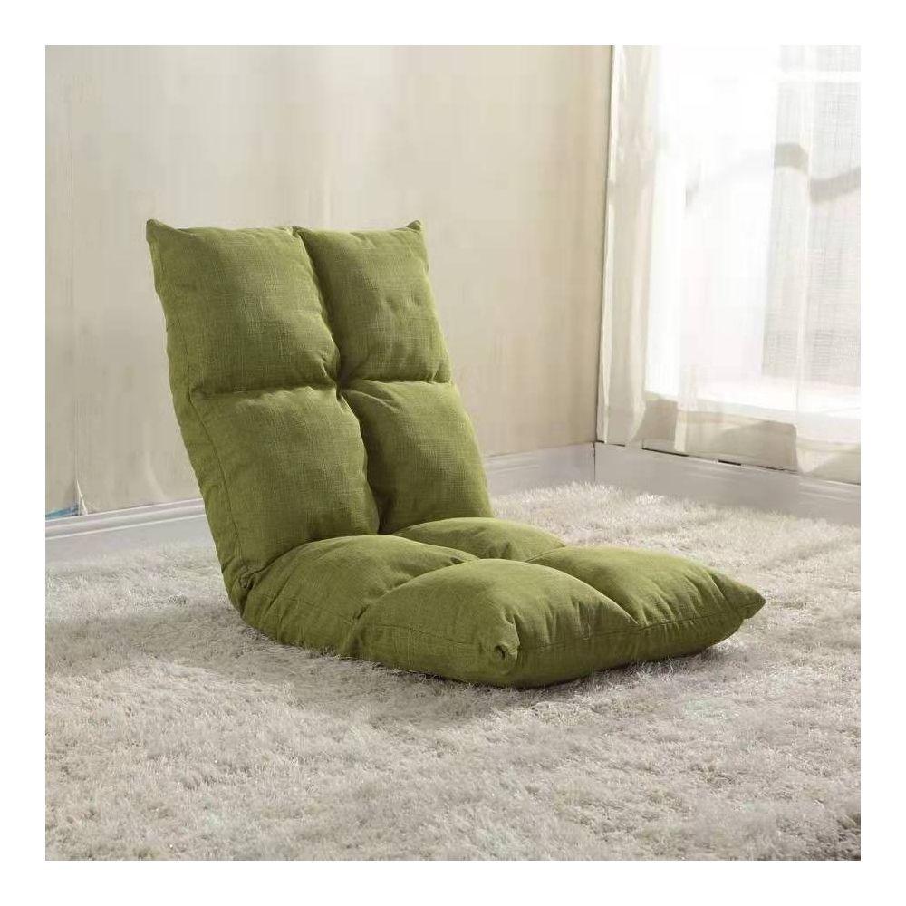Wewoo - Fauteuil Canapé chaise tatami coussins de sol lit pliant vert
