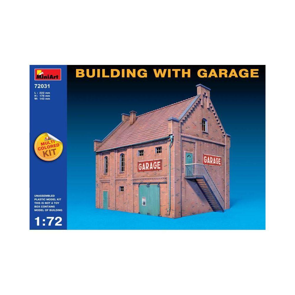 Mini Art Building With Garage - Décor Modélisme