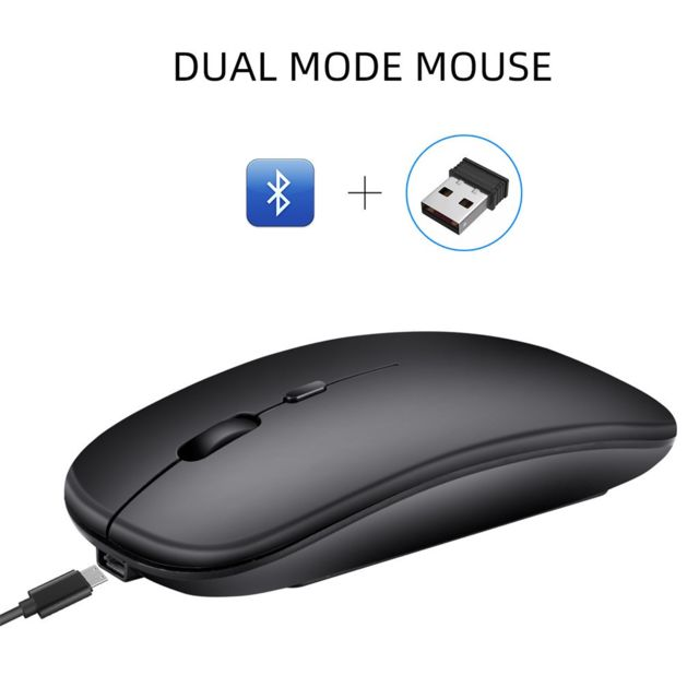 Generic -M90 Rechargeable Wireless BT 5.0 USB Dual Mode Gaming Mouse Souris Pour PC Portable Generic  - Souris Gamer