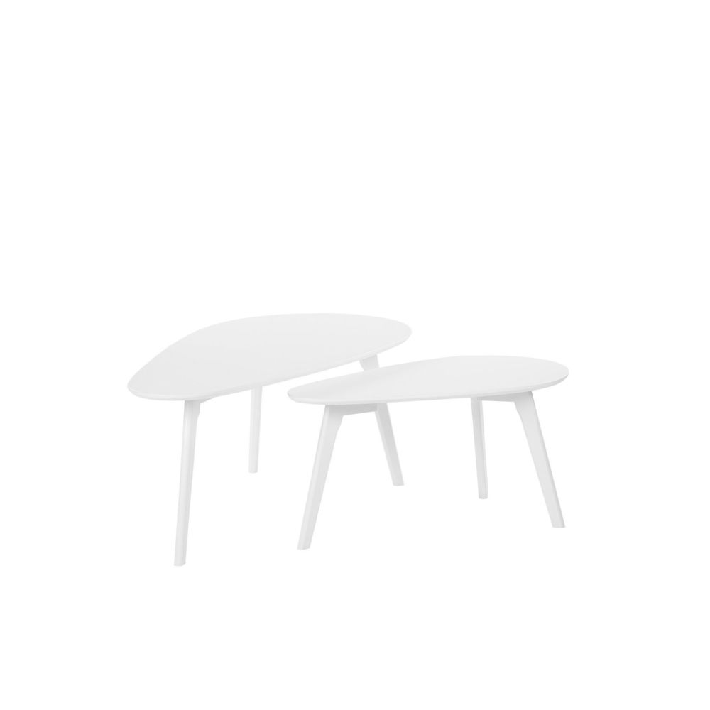 Beliani Beliani Lot de 2 tables basses blanches FLY III - blanc