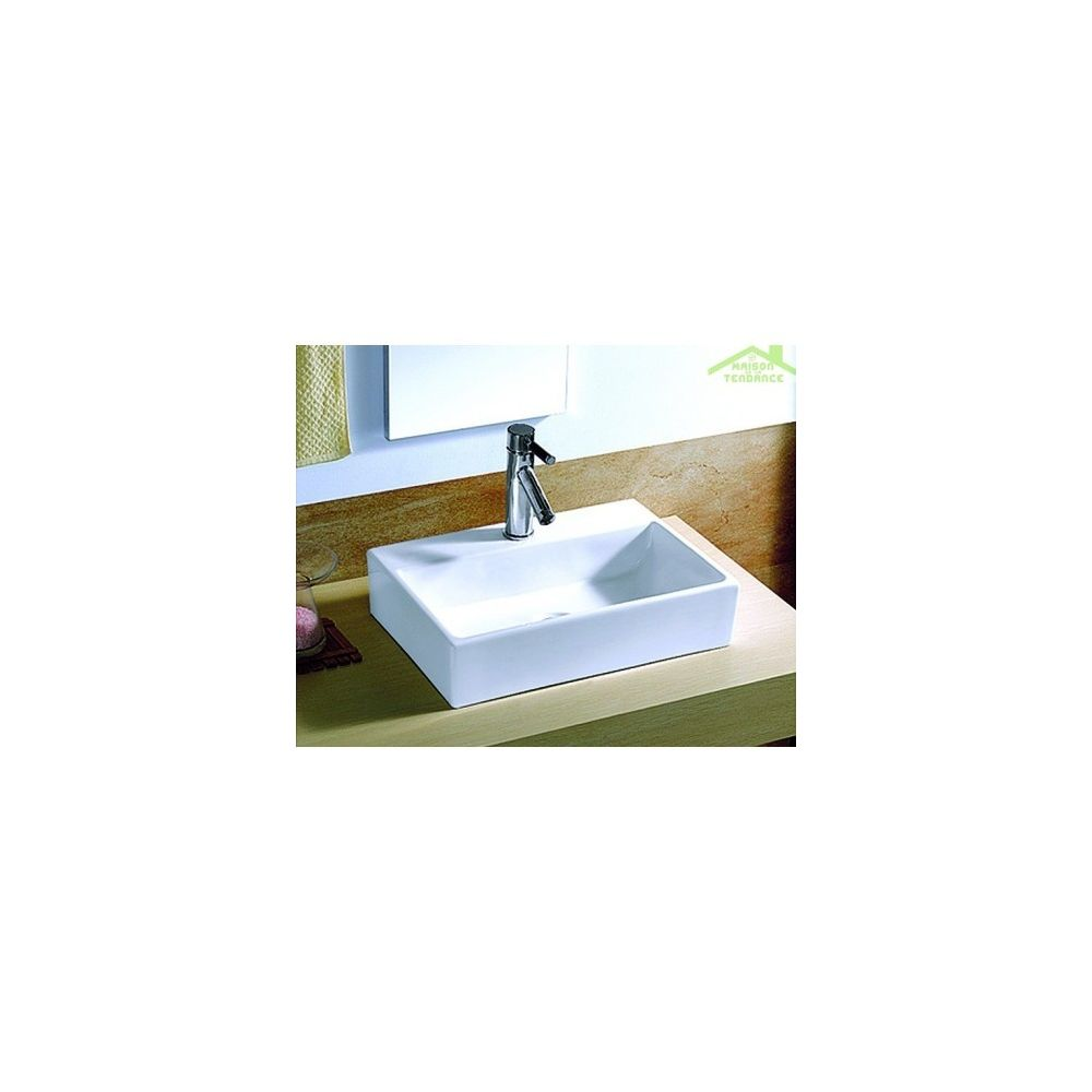 Karag Vasque rectangulaire à poser 51,5x36x12 cm en porcelaine