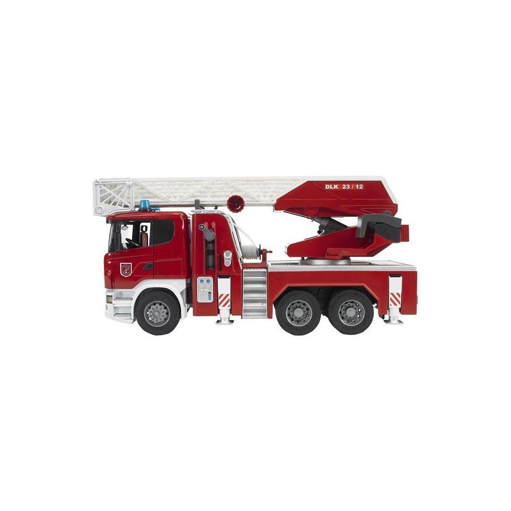 Bruder Bruder 03590 Scania R-Serie Camion de pompiers fonctionnel avec pompe à eau