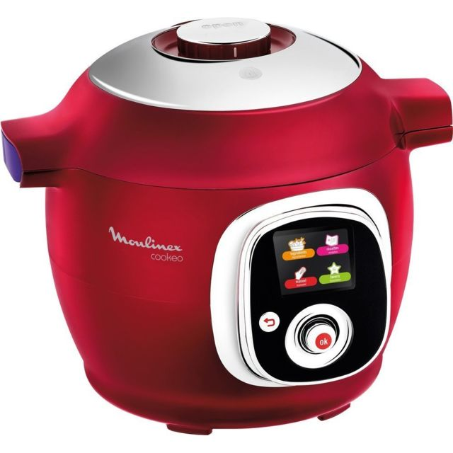 Moulinex - Multicuiseur COOKEO - CE851500 - Rouge - Multicuiseur
