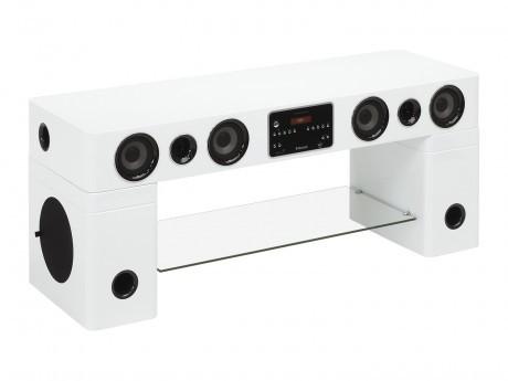 Vente Unique Meuble Tv Home Cinema Integre Watts Ii Bluetooth