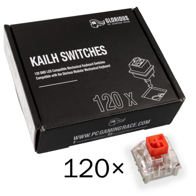 Glorious Pc Gaming Race - Pack de 120 switchs Kailh Red MX - Glorious Pc Gaming Race