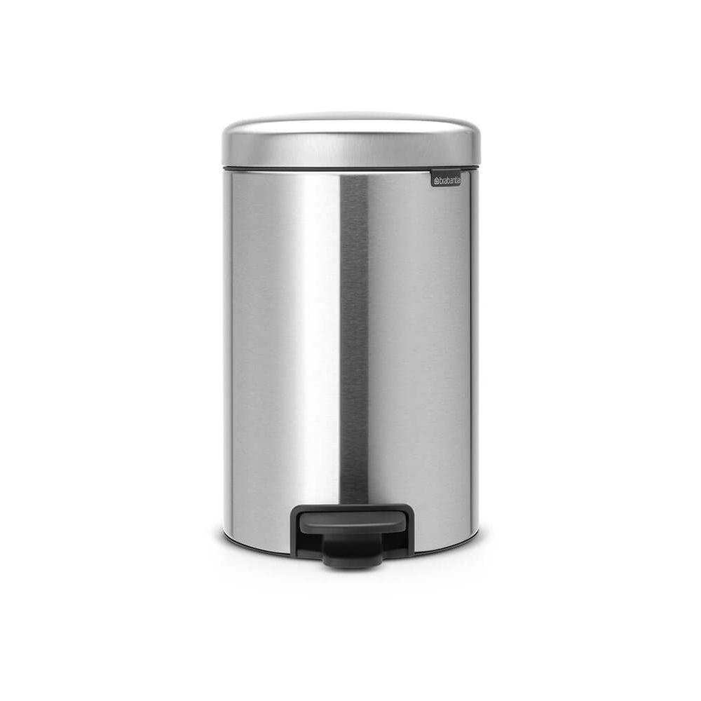 BRABANTIA brabantia - poubelle à pédale 12l matt steel - 113604