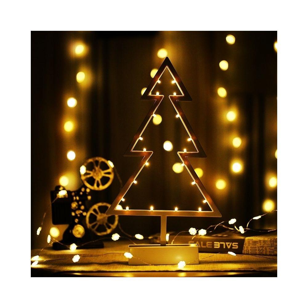 Wewoo Guirlande LED Arbre de Noël en forme lampe vacances romantique avec support, Lumière nuit décorative pour fée chaude, po