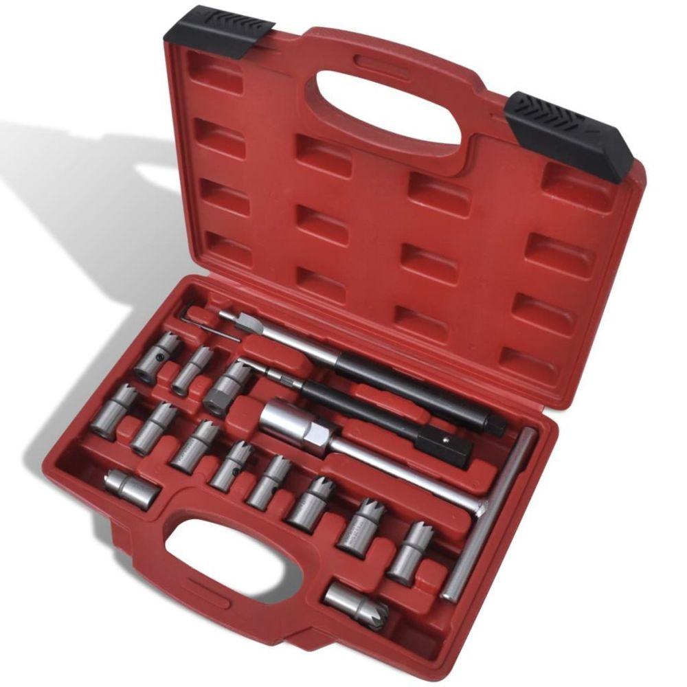 Vidaxl Kit rectificateur de siège d'injecteur Diesel 17 pièces  