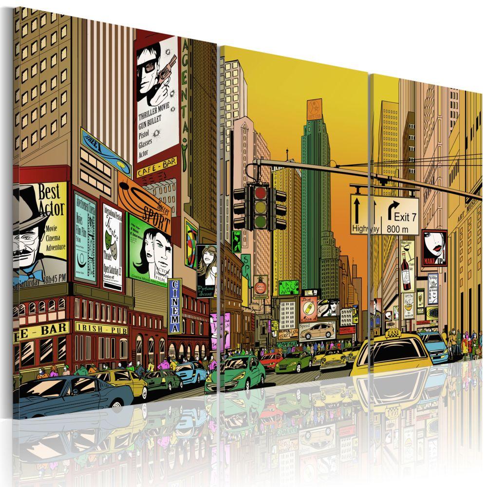 Declina Tableau - Cartoon NYC