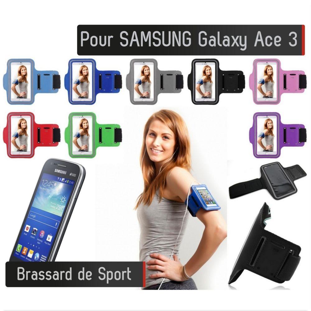 Shot - Brassard Sport Samsung Galaxy Ace 3 Housse Etui Coque (GRIS)
