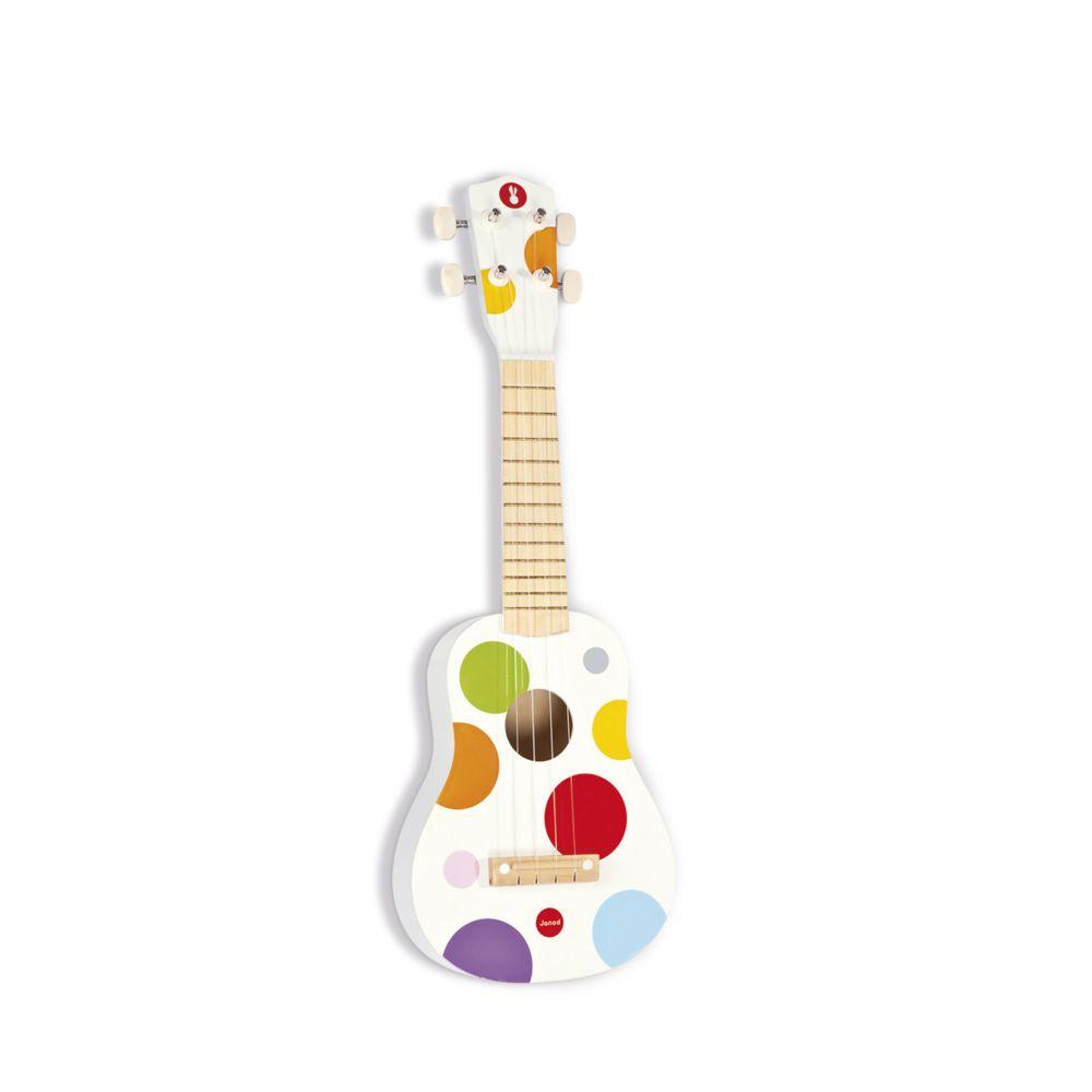 Janod Guitare 4 cordes : Youkoulélé en bois Confetti