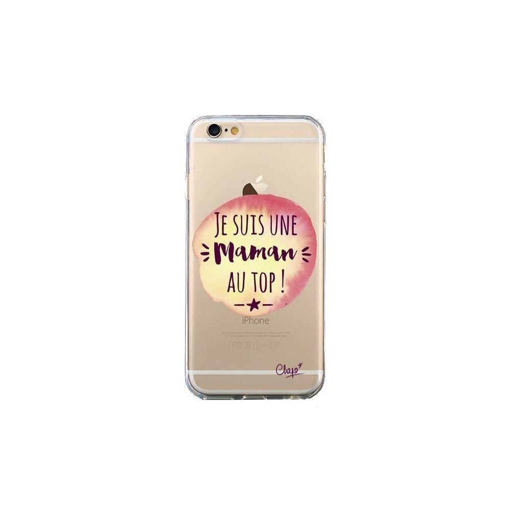Apple - Coque iPhone 6 et 6S Je suis une Maman au Top Orange Transparente - Chapo