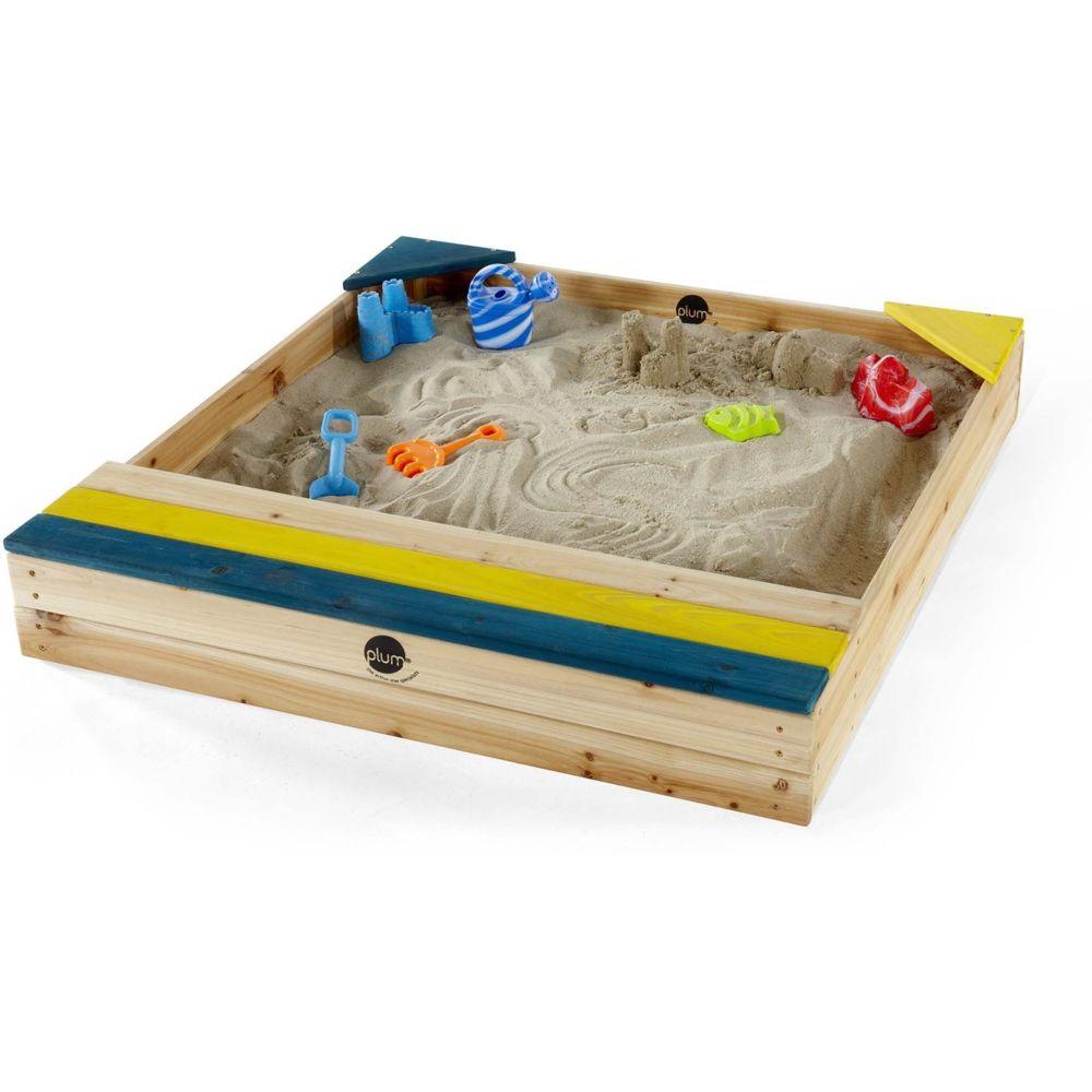 Plum Bac à sable en bois avec coffre de rangement intégré