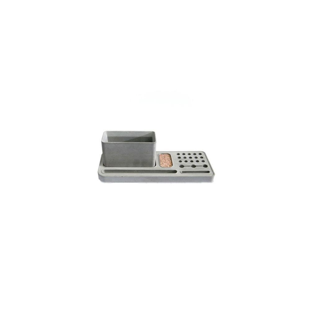 Wewoo Fournitures scolaires C de bureau de boîte de rangement de support de stylo de ciment C avec la de papeterie