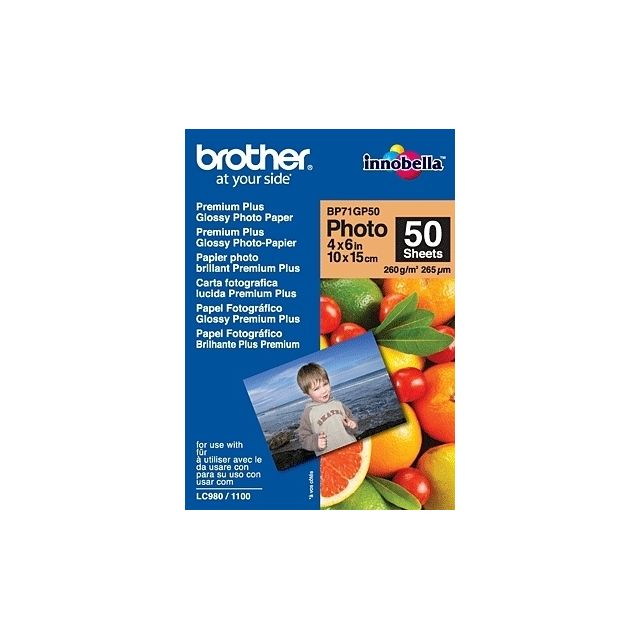 Brother - Brother BP71GP50 Premium Glossy Photo Paper papier photos Blanc - Brother